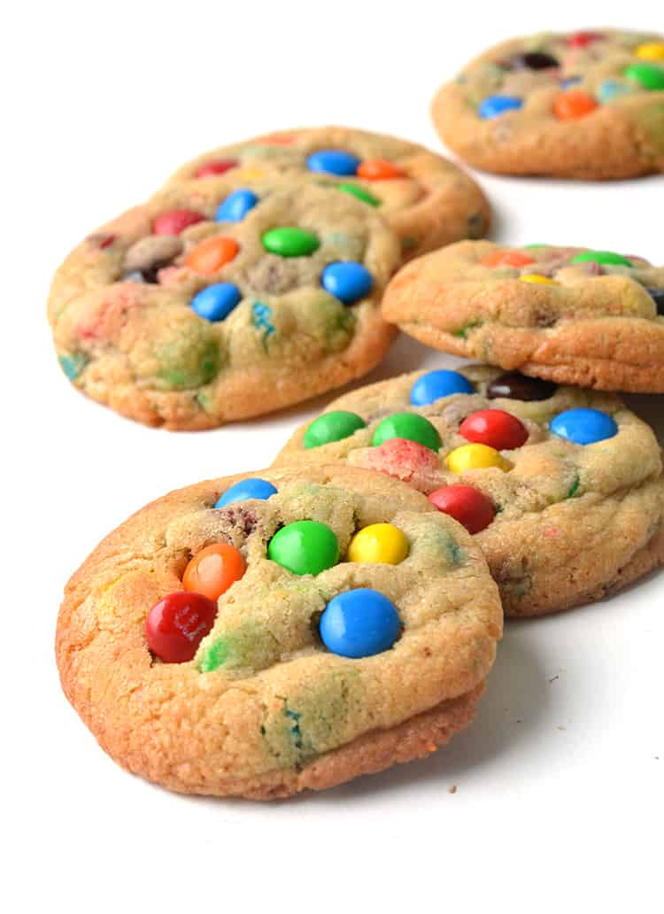 Colourful M&M cookies