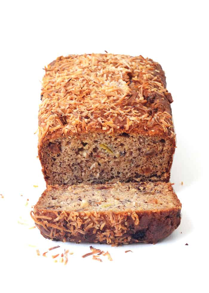 Banana Sultana Coconut Loaf