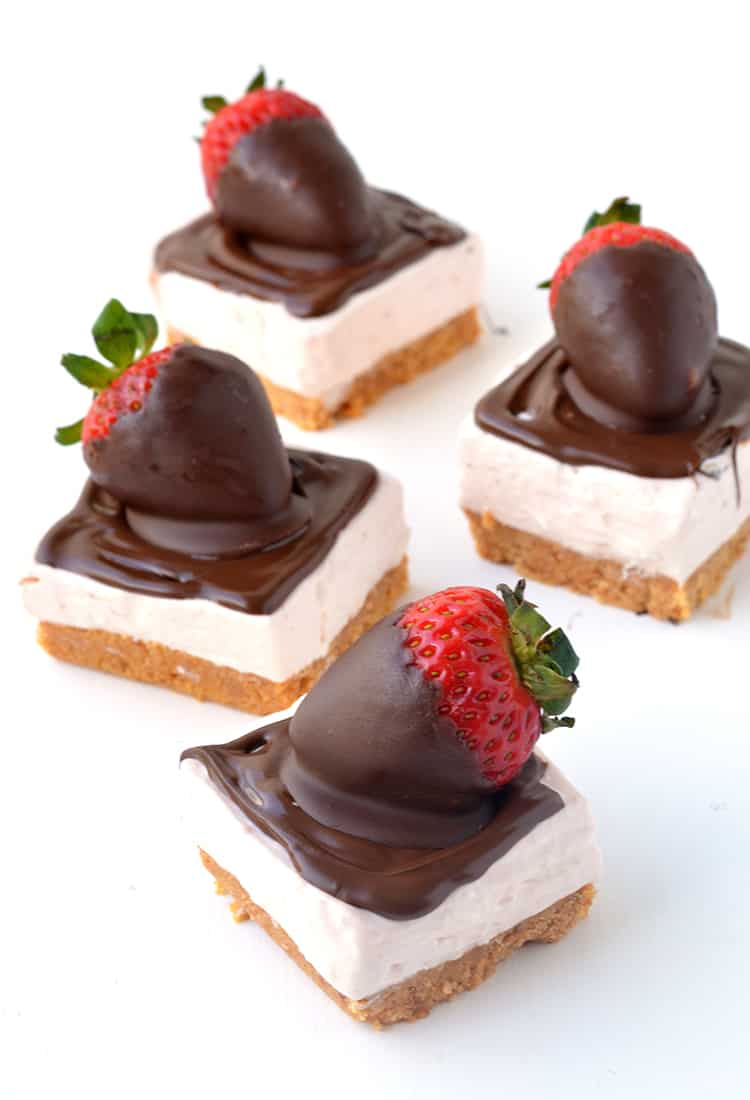 Strawberries and Cream Cheesecake Bars