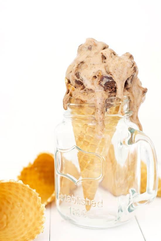 Chocolate Peanut Butter Brownie Ice Cream