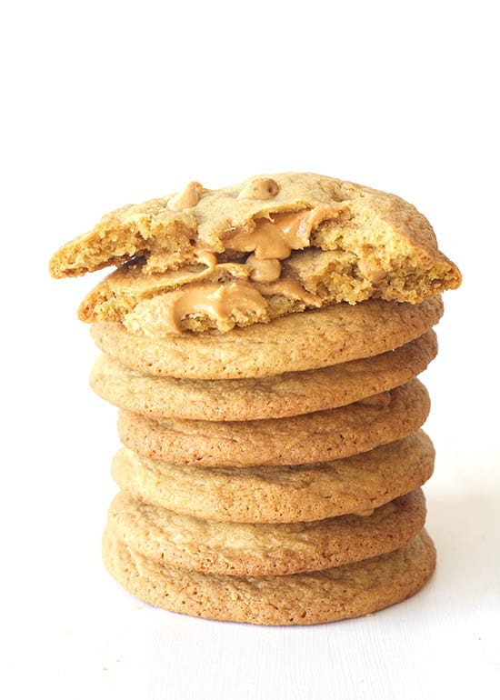 Giant Stuffed Peanut Butter Cookies