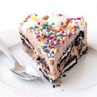 Birthday Cake Oreo Icebox Cake