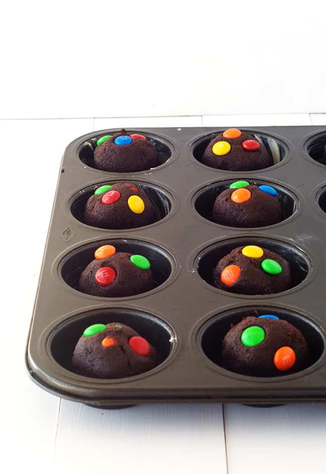 Chocolate M&M Cookie Cups
