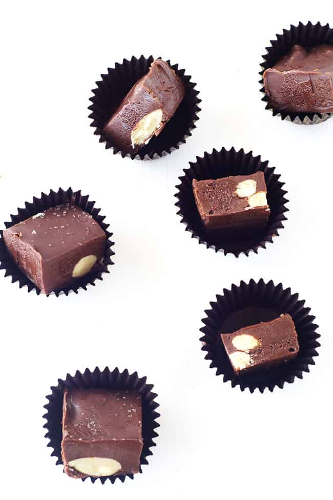 Dark Chocolate Almond Fudge