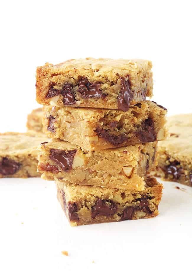 Pecan Chocolate Chip Blondies