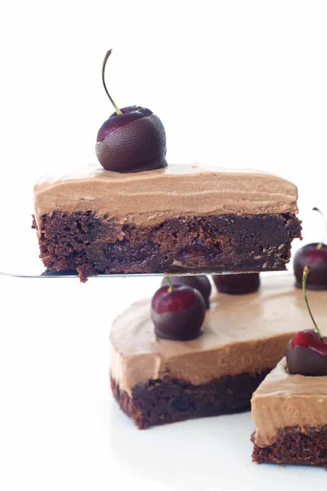Chocolate Cherry Mousse Pie
