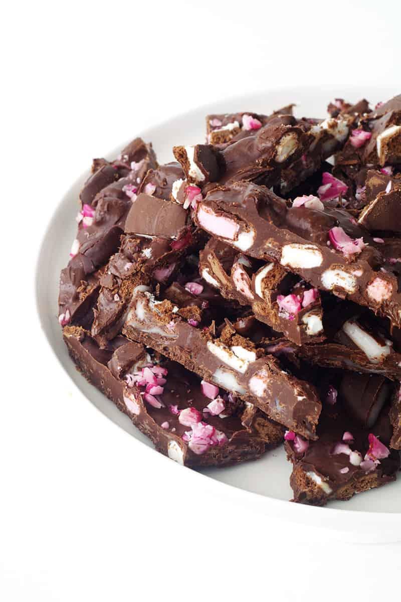 Peppermint Crunch Rocky Road Bark Sweetest Menu