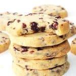 Chocolate Cranberry Shortbread Cookies