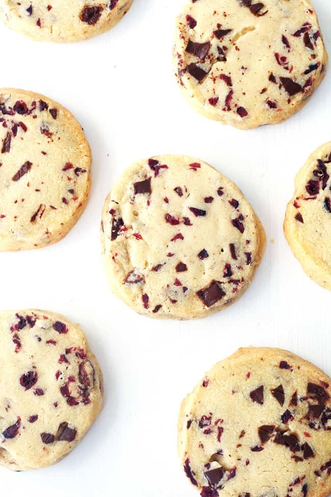 Chocolate Cranberry Shortbread Cookies Sweetest Menu