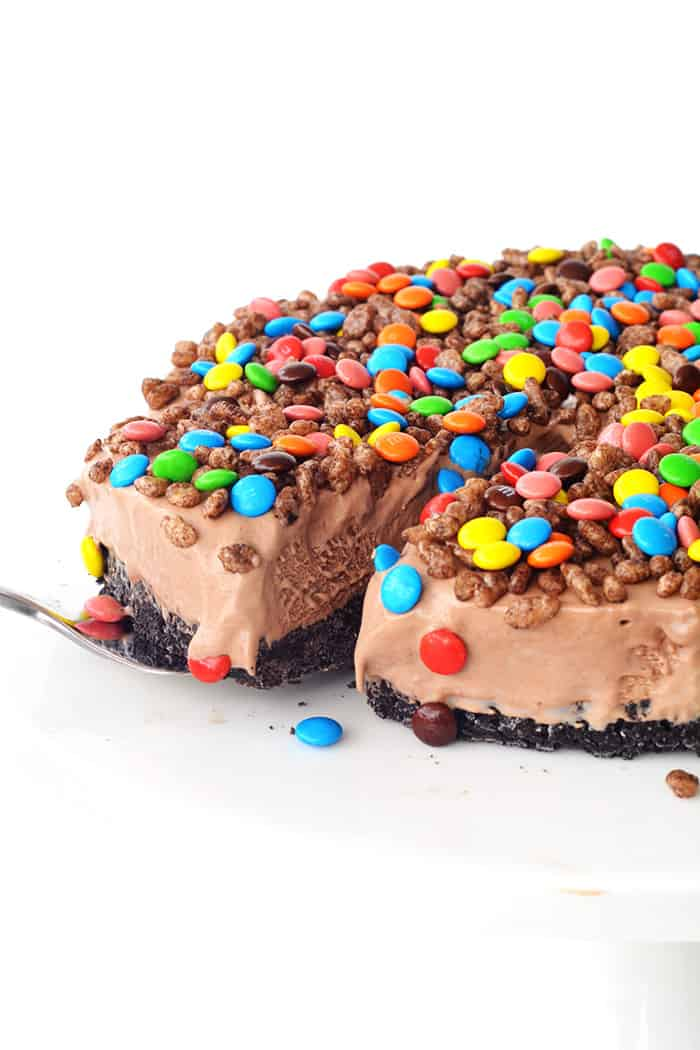 Crunchy Chocolate Milkshake Ice Cream Cake