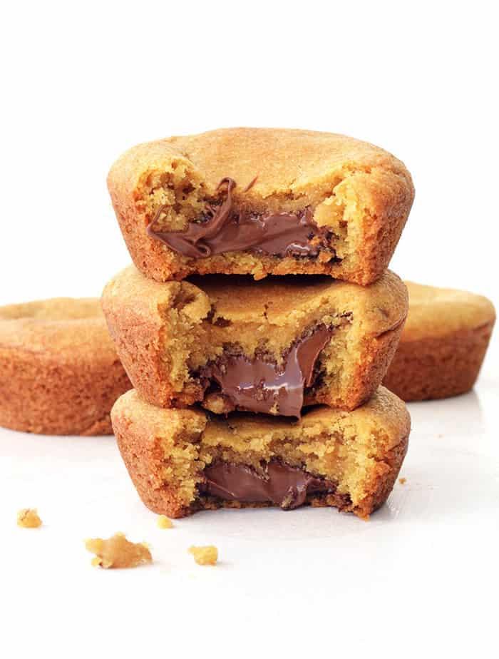 Nutella Stuffed Cookie Cups Sweetest Menu