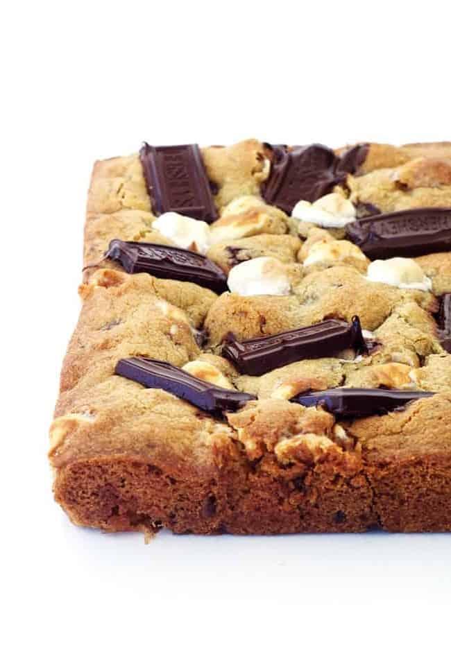 Gooey Smores Cookie Bars