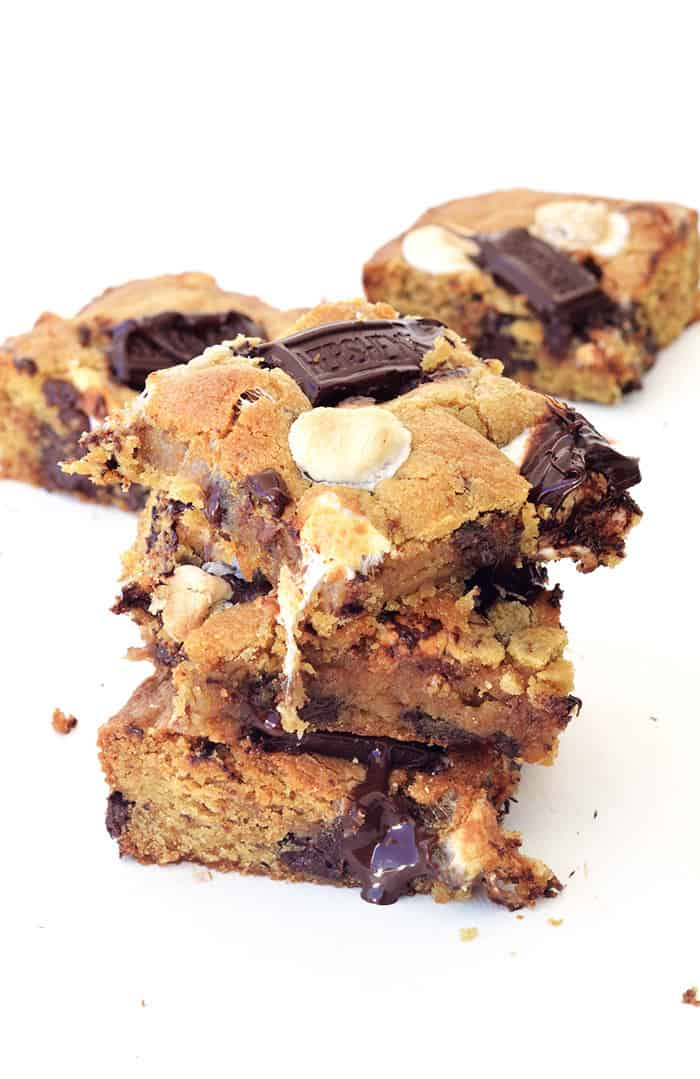 Gooey Smores Cookie Bars