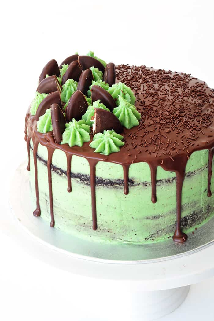 Mint Chocolate Layer Cake Sweetest Menu