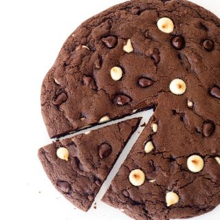 One Giant Triple Chocolate Cookie (Video)