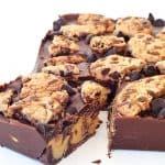 Cookie Dough Stuffed Chocolate Bar | via sweetestmenu.com