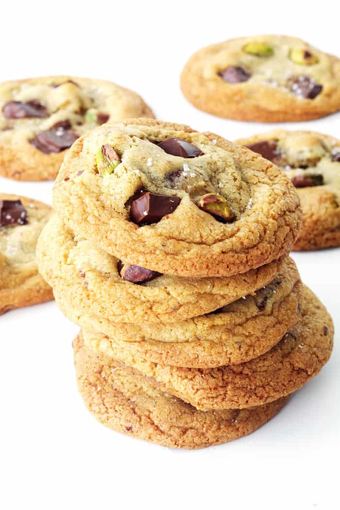 Dark Chocolate Pistachio Cookies