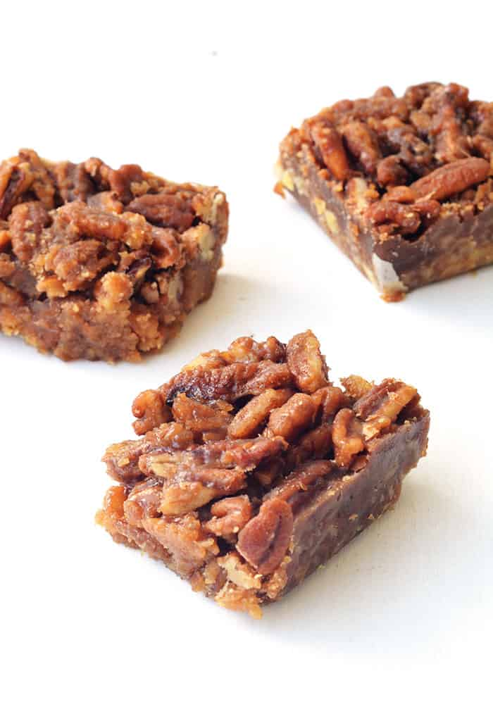 Maple Pecan Bars with Pretzel Crust