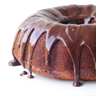 Big Banana Bundt Cake with Nutella Ganache