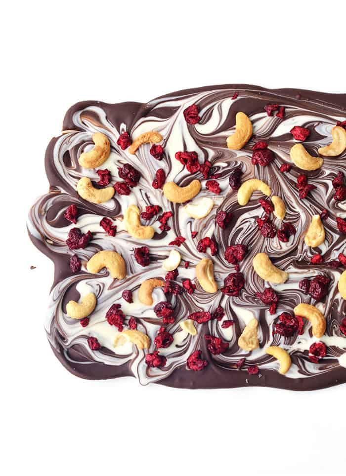 Cherry Cashew Chocolate Bark