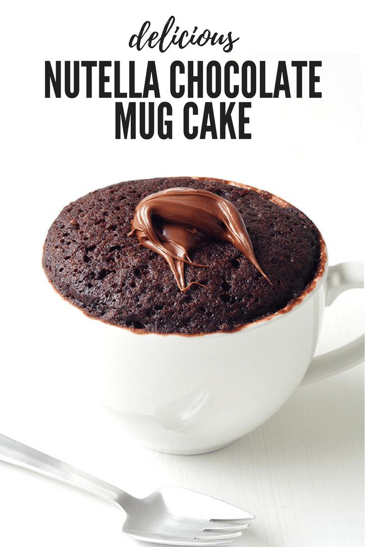 Nutella Chocolate Mug Cake For One Sweetest Menu