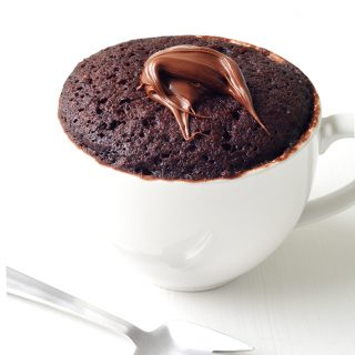 Nutella Chocolate Mug Cake For One