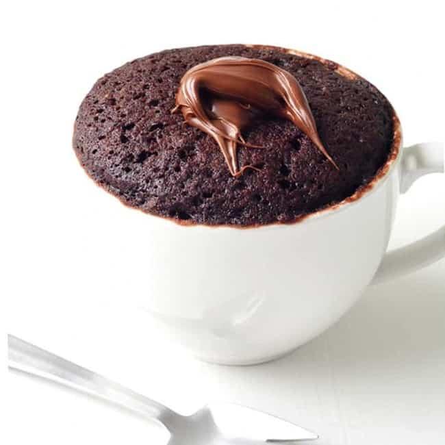 Nutella Chocolate Mug Cake