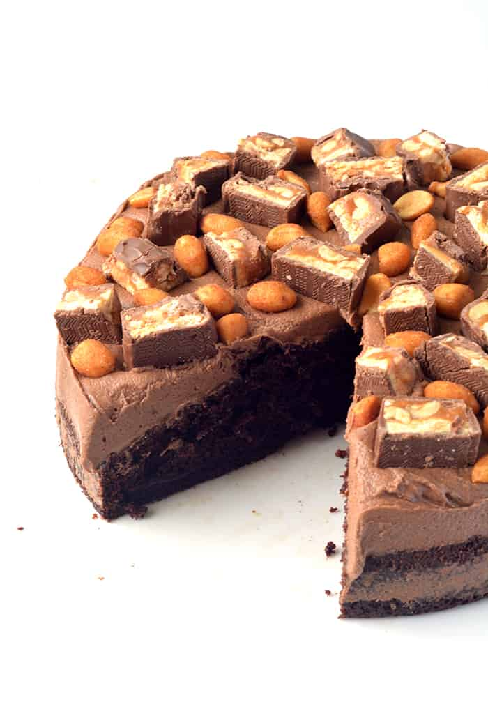 Snickers Chocolate Cake