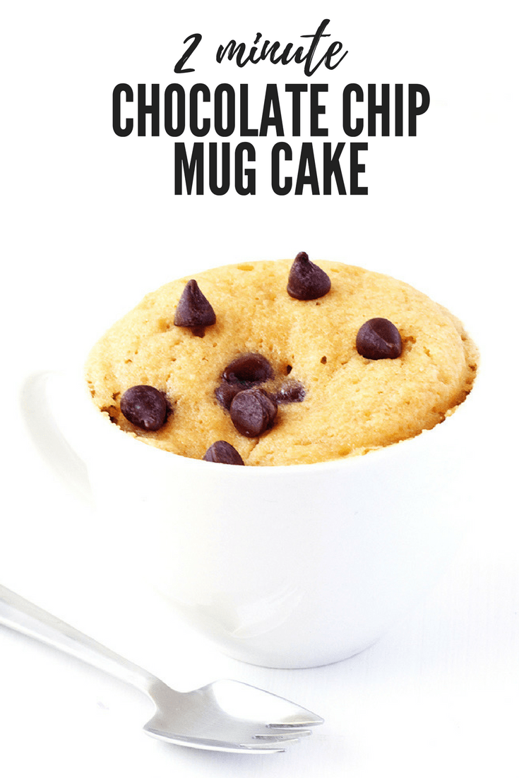 Vanilla Chocolate Chip Mug Cake - Sweetest Menu