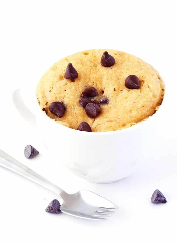 Vanilla Chocolate Chip Mug Cake