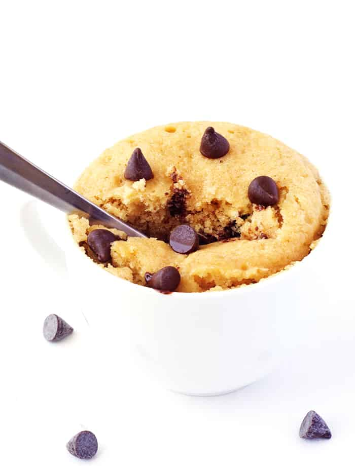 Vanilla Chocolate Chip Mug Cake