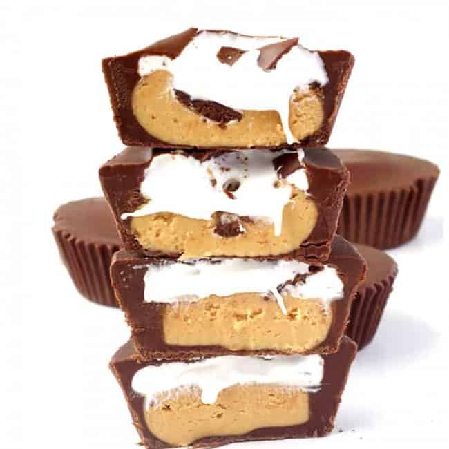 Peanut Butter Marshmallow Chocolate Cups