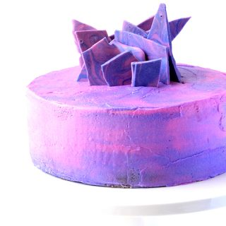 Purple Marble Vanilla Layer Cake