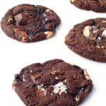 Dark Chocolate Marshmallow Cookies | via sweetestmenu.com