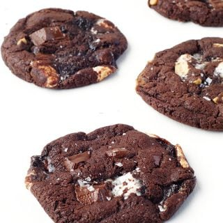 Dark Chocolate Marshmallow Cookies