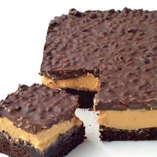 Peanut Butter Chocolate Brownie Crunch Bars