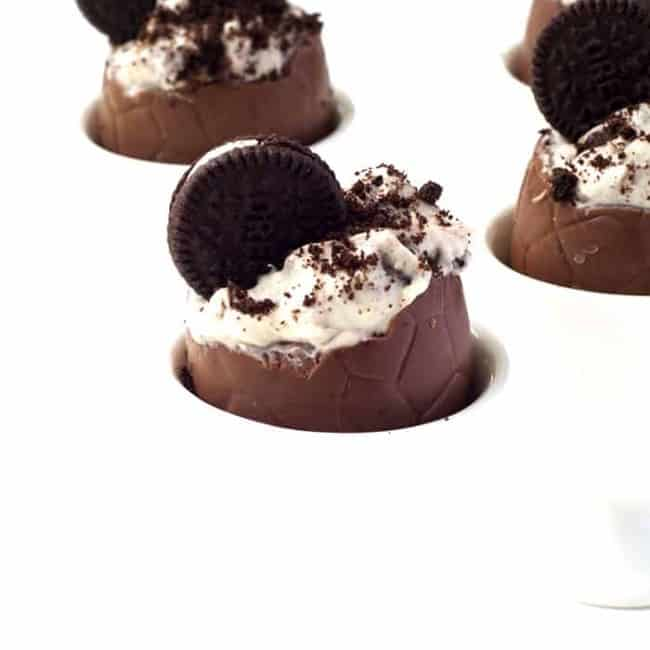 Oreo Cookies and Cream Filled Easter Eggs