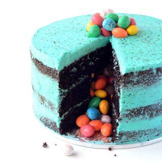 Speckled Egg Chocolate Pinata Cake