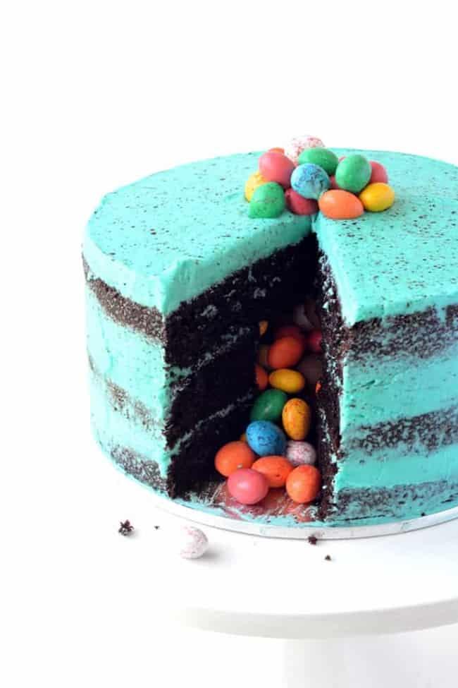Speckled Egg Pinata Cake