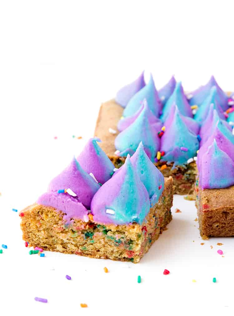 Funfetti Unicorn Cookie Bars