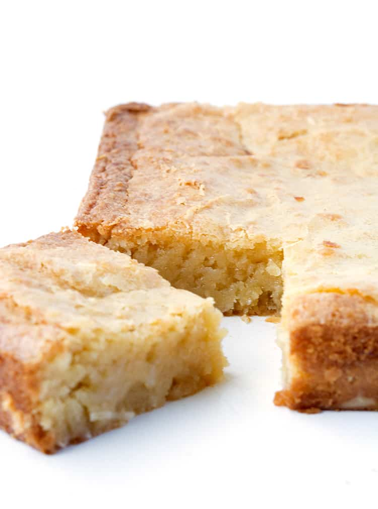 White Chocolate Coconut Brownies