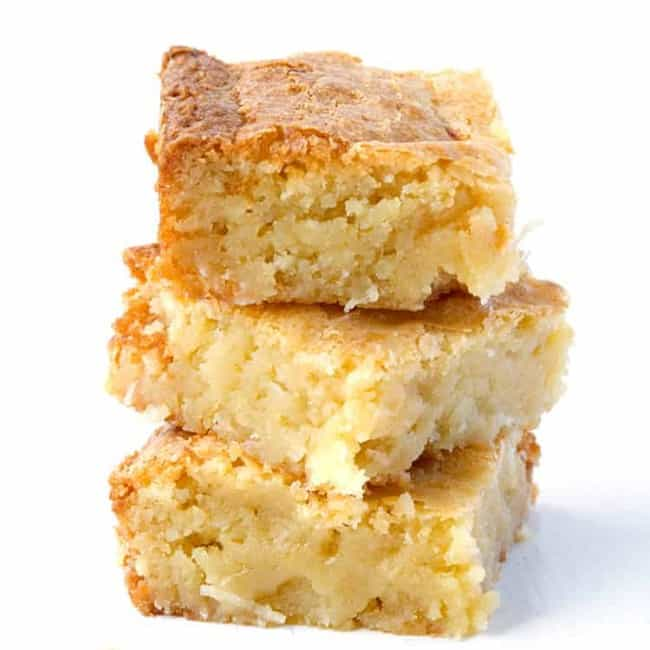 White Chocolate Coconut Brownies | via sweetestmenu.com