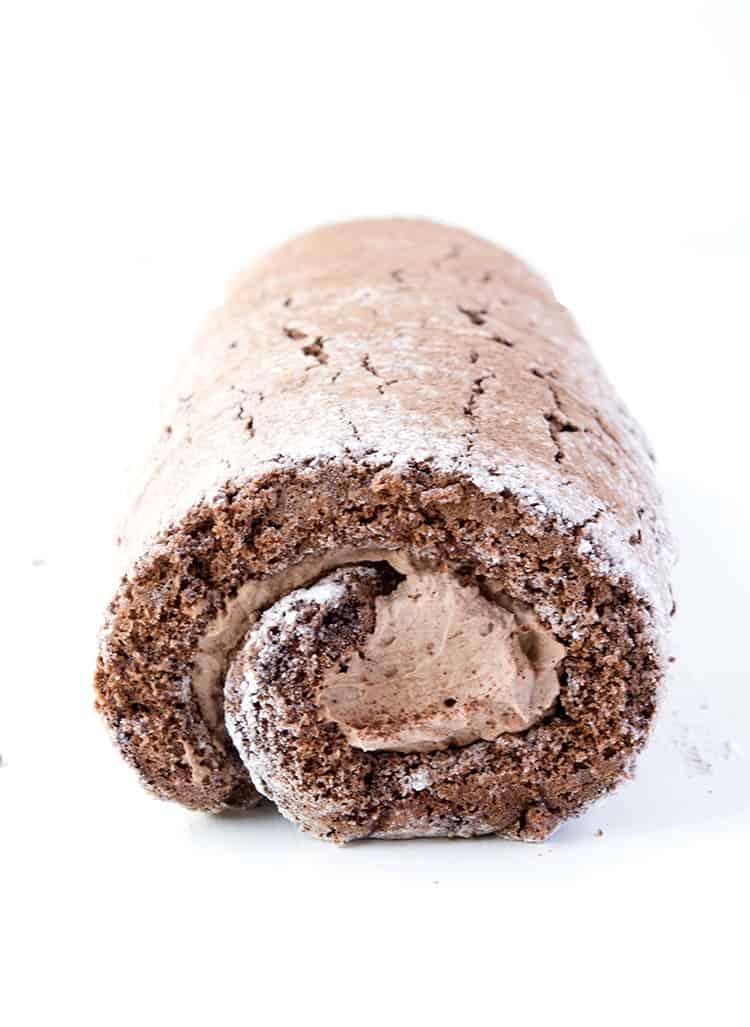 Chocolate Cake Roll with chocolate cream
