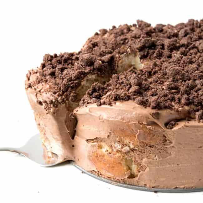 Chocolate Cinnamon Donut Icebox Cake