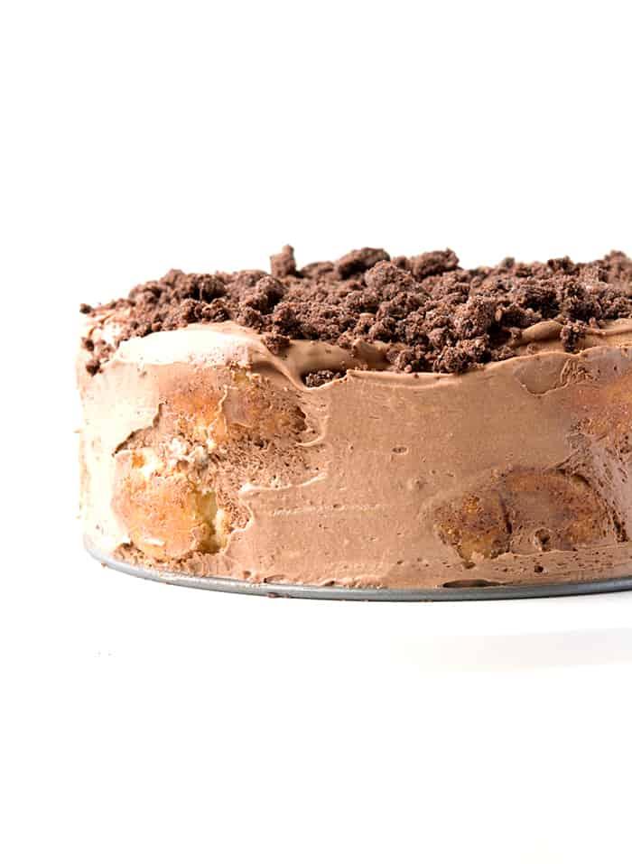 Cinnamon donut icebix cake
