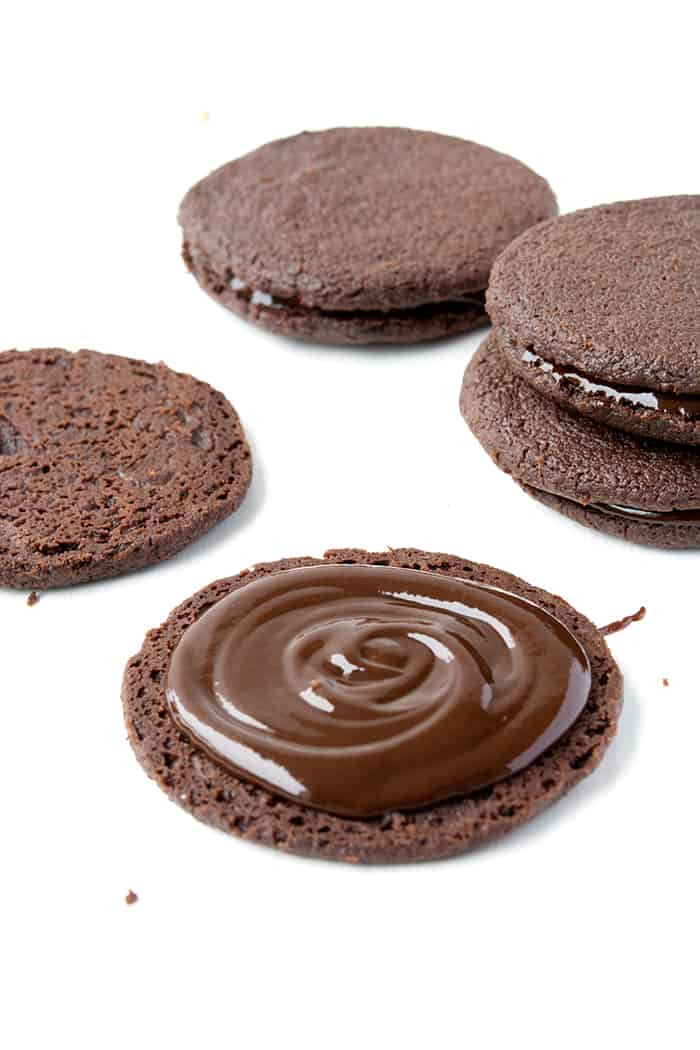 Double Chocolate Sandwich Cookies