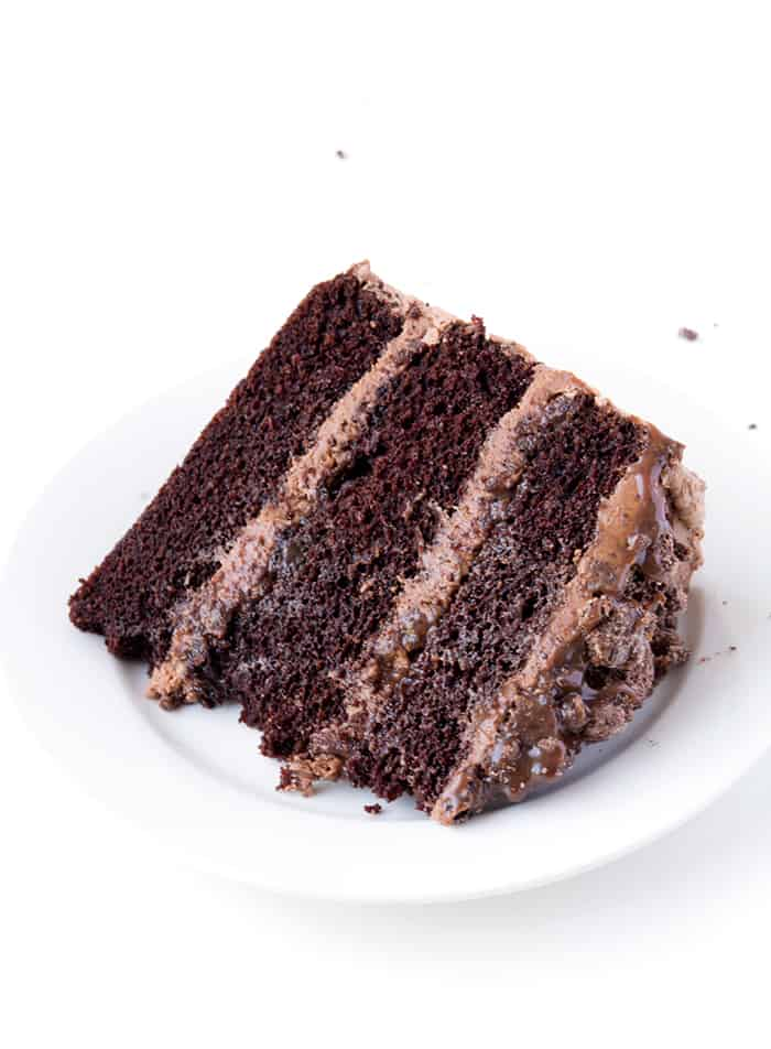 Death by Chocolate Layer Cake | via sweetestmenu.com