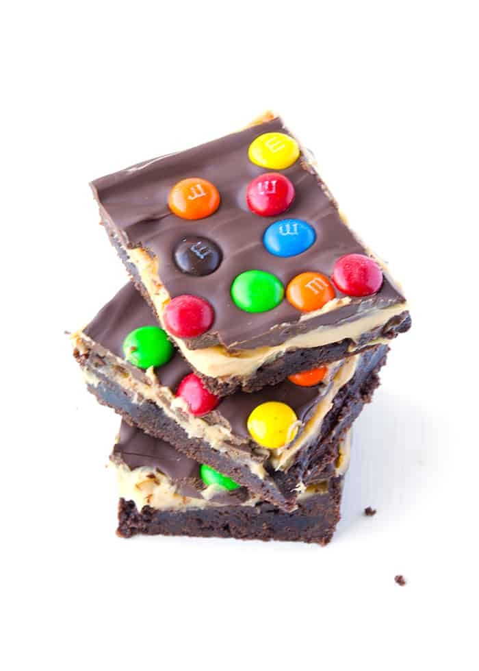 M&M Chocolate Peanut Butter Bars