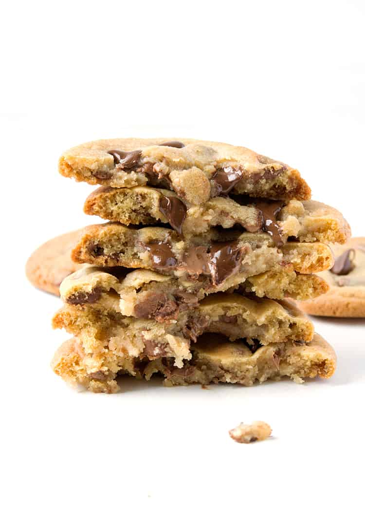 Cookie Dough Stuffed Chocolate Chip Cookies | via sweetestmenu.com