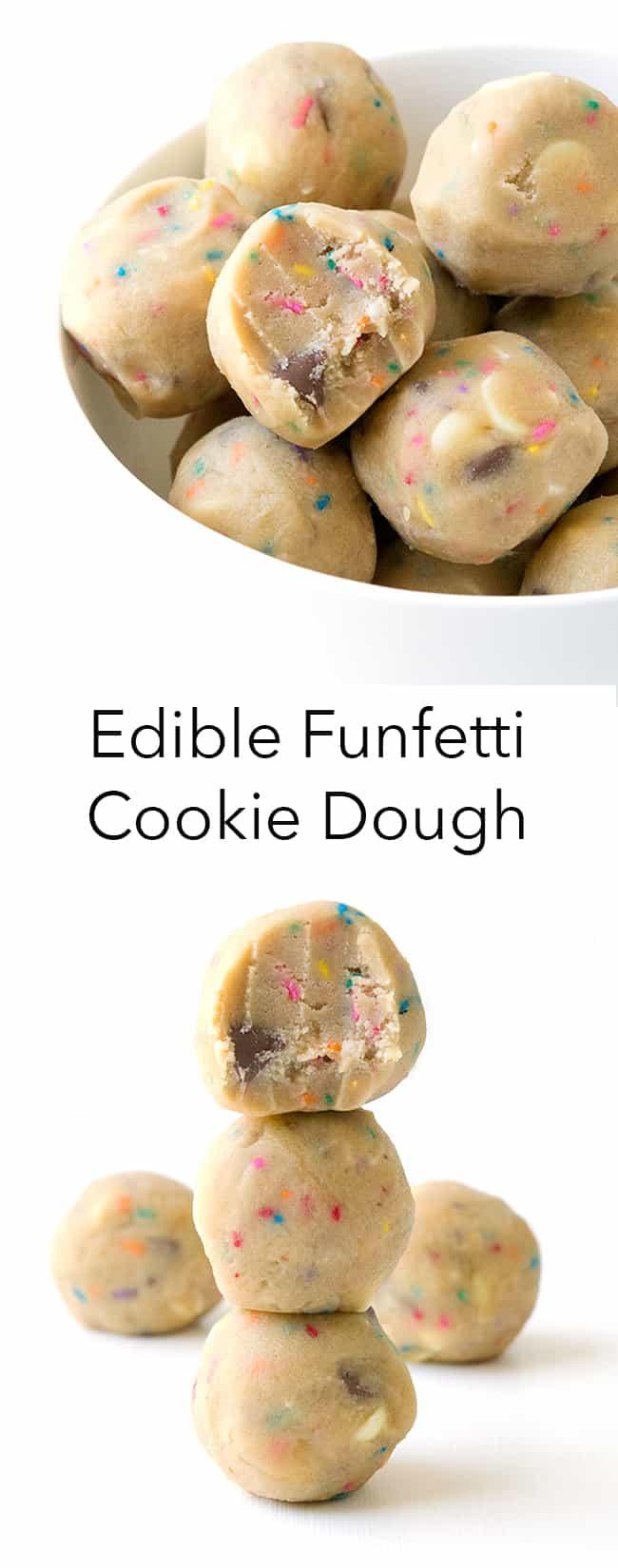Edible Funfetti Cookie Dough | Sweetest Menu